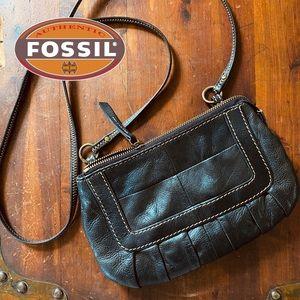 FOSSIL Leather Purse Crossbody Handbag